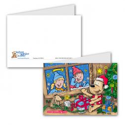 Weihnachtshaus mit Einlageblatt und Kurzinfo zur Stiftung